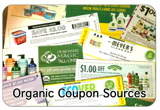 Organic Coupon Sources