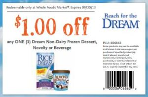 WF Dream drink coupon